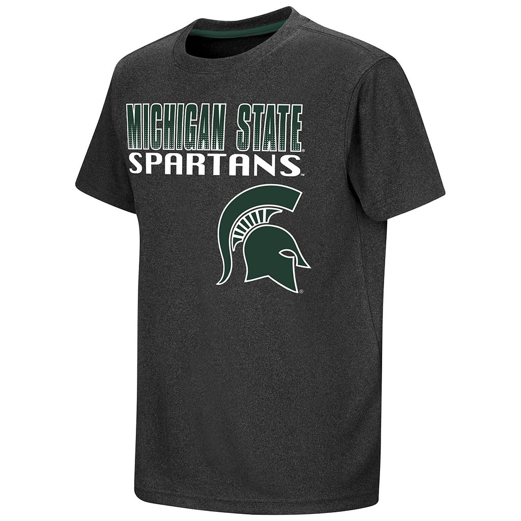 Boys 8-20 Campus Heritage Michigan State Spartans Heathered Tee