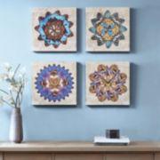 Madison Park Butterfly Mandalas Canvas Wall Art 4-piece Set