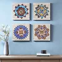 Madison Park Butterfly Mandalas Canvas Wall Art 4-piece Set