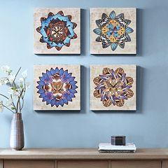 Madison Park Butterfly Mandalas Canvas Wall Art 4 pc Set