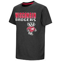 Boys 8-20 Campus Heritage Wisconsin Badgers Heathered Tee
