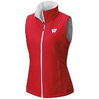 Women's Columbia Wisconsin Badgers Reversible Powder Puff Vest
