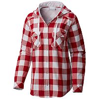 Women's Columbia Wisconsin Badgers Times Two Hooded Button-Down Shirt