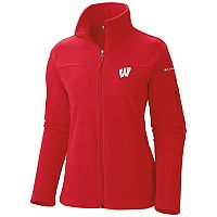 Women's Columbia Wisconsin Badgers Give And Go Microfleece Jacket