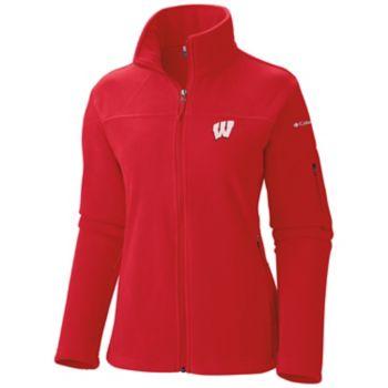 Women's Columbia Wisconsin Badgers Give And Go Microfleece Jacket