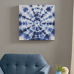 Urban Habitat Going Batik Blue Canvas Wall Art