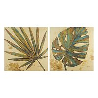 INK+IVY Palm Grove Green Canvas Wall Art 2 pc Set