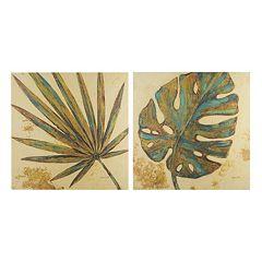 INK+IVY Palm Grove Green Canvas Wall Art 2-piece Set
