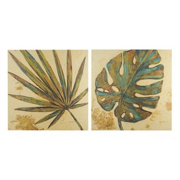 INK+IVY Palm Grove Green Canvas Wall Art 2-piece Set