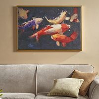 Madison Park Signature Koi Dance Framed Canvas Wall Art