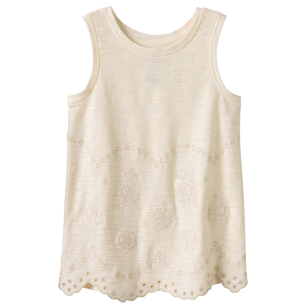 Girls 4-12 SONOMA Goods for Life™ Scalloped Embellished Tank Top
