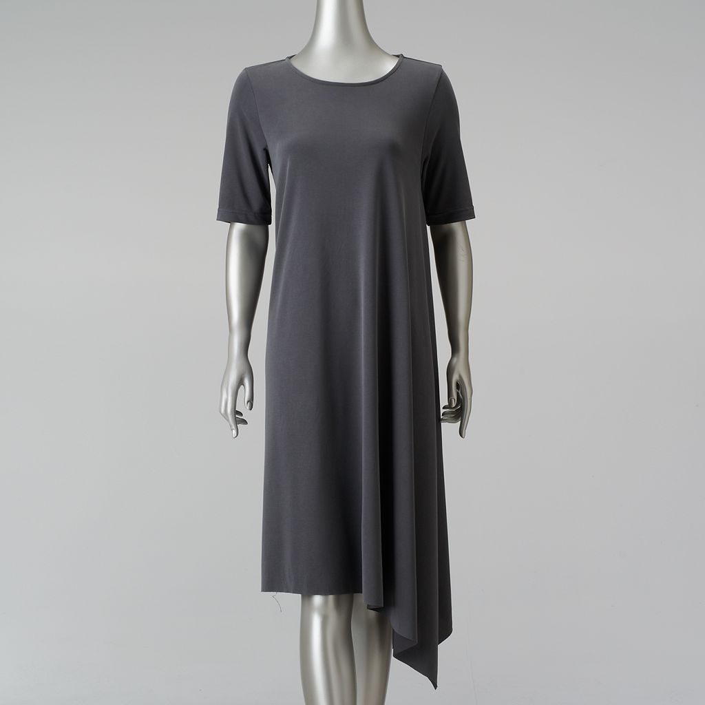 Women's Simply Vera Vera Wang Simply Separates Asymmetrical T-Shirt Dress