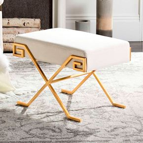 Safavieh Gold Finish Contemporary Bench