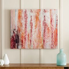 Urban Habitat Passion Coral Canvas Wall Art