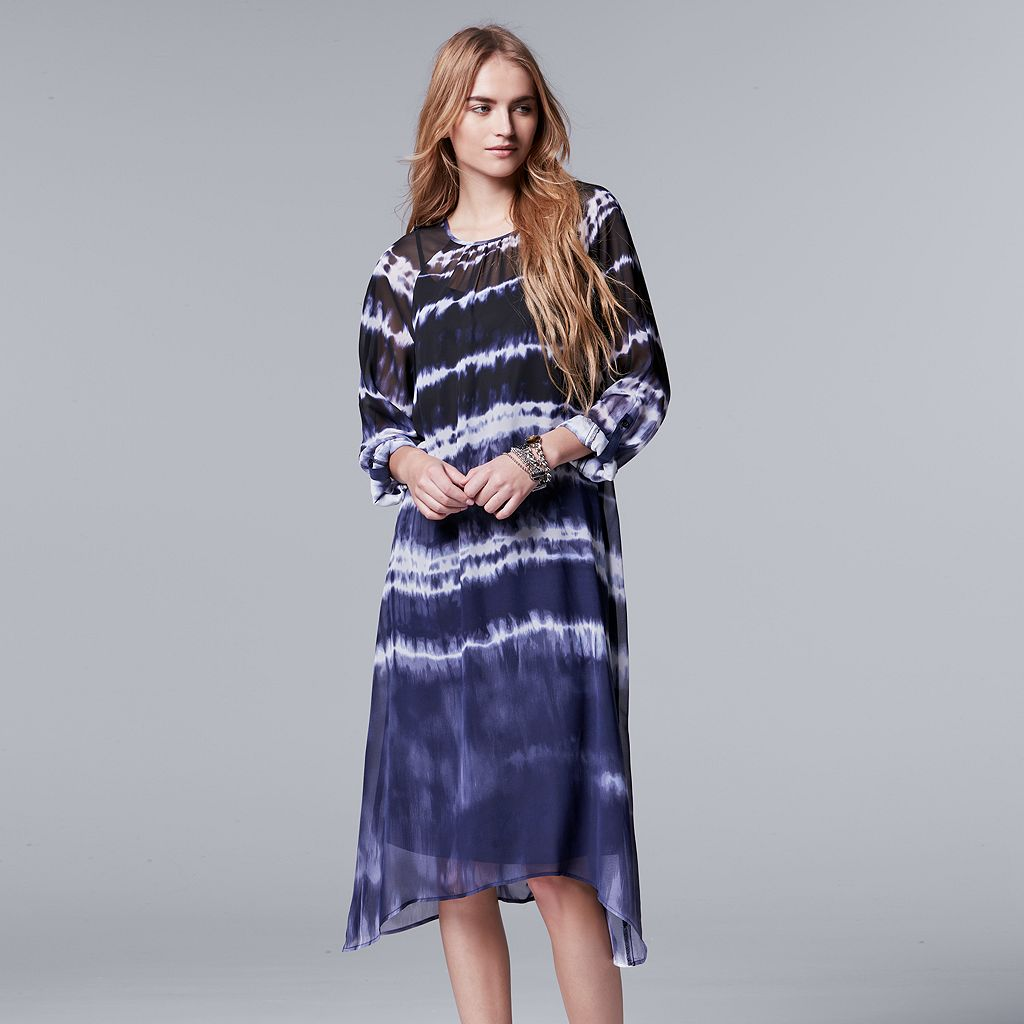 Women's Simply Vera Vera Wang Tie-Dye Handkerchief Dress