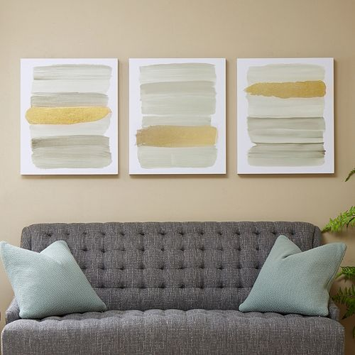 Urban Habitat Traveling Road Gray Canvas Wall Art 3-piece Set