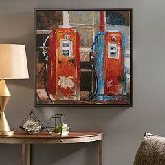 INK+IVY Gas Pumps Canvas Wall Art