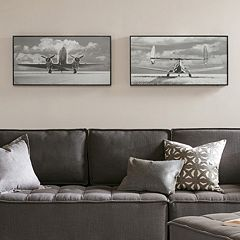 Madison Park Aviation Framed Wall Art 2 pc Set