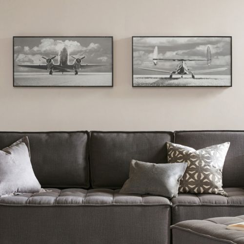 Madison Park Aviation Framed Wall Art 2-piece Set