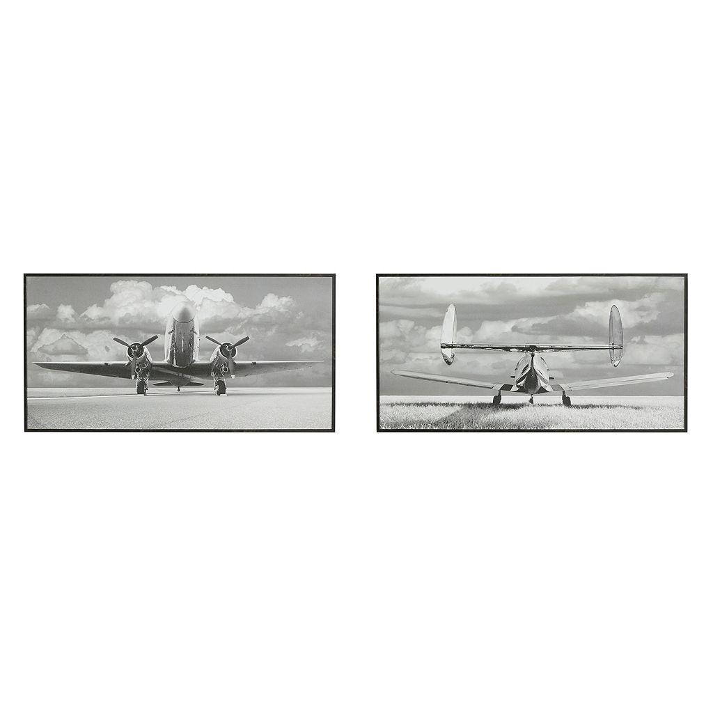 Madison Park Aviation Framed Wall Art 2-piece Set