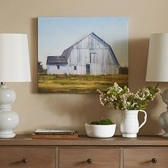 Madison Park Old White Barn Canvas Wall Art