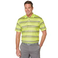 Men's Grand Slam Performance Striped Golf Polo
