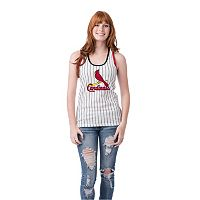 Women's St. Louis Cardinals Pin Stripe Tank Top