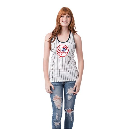 Women's New York Yankees Pin Stripe Tank Top
