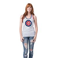 Women's Chicago Cubs Pin Stripe Tank Top