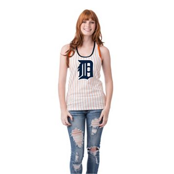 Women's Detroit Tigers Pin Stripe Tank Top