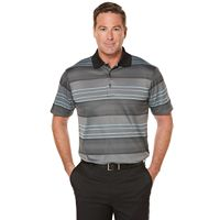 Men's Grand Slam Regular-Fit Ombre Striped Performance Golf Polo