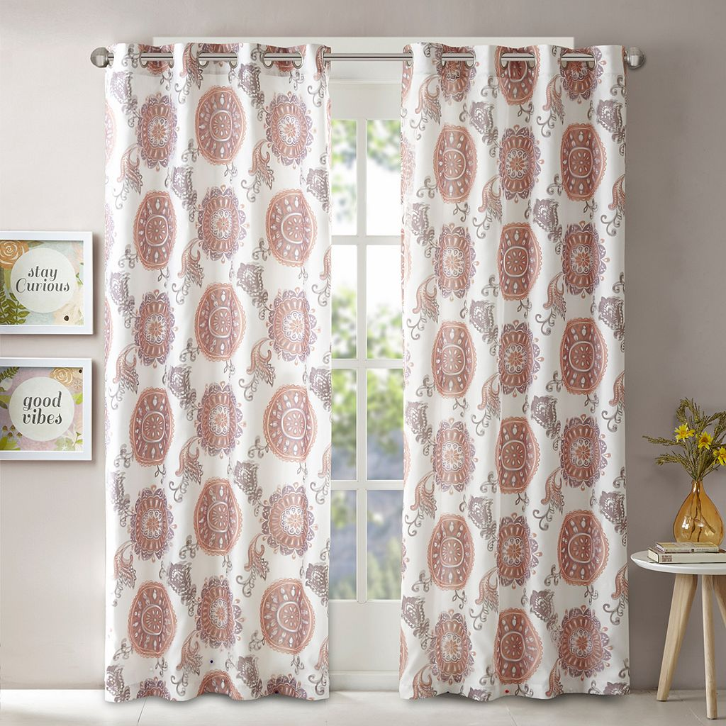 Intelligent Design Elise Printed Window Curtain