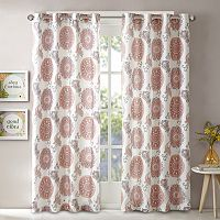 Intelligent Design Elise Printed Window Curtain