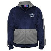 Big & Tall Majestic Dallas Cowboys Panel Tricot Track Jacket