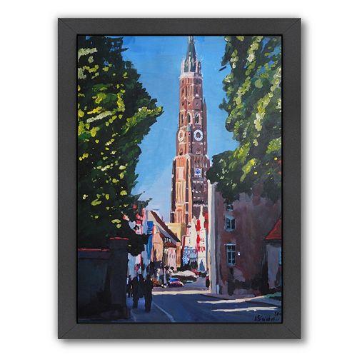 """Americanflat """"Landshut Munchner Tor 1"""" Framed Wall Art"""