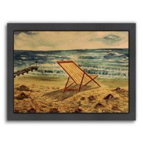 """Americanflat """"Liegestuhl"""" Framed Wall Art"""