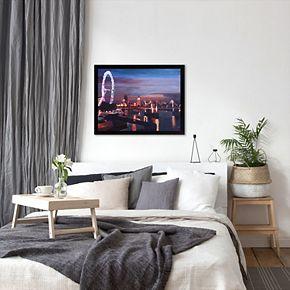 "Americanflat ""London Eye Night"" Framed Wall Art"