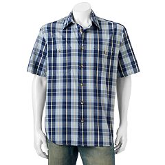 Men's Woolrich Tall Pine Classic-Fit Plaid Ripstop Button-Down Shirt