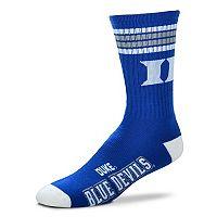 Adult For Bare Feet Duke Blue Devils Deuce Striped Crew Socks