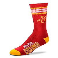 Adult For Bare Feet Iowa State Cyclones Deuce Striped Crew Socks