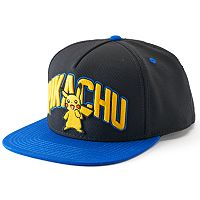 Men's Pokemon Pikachu Snapback Cap