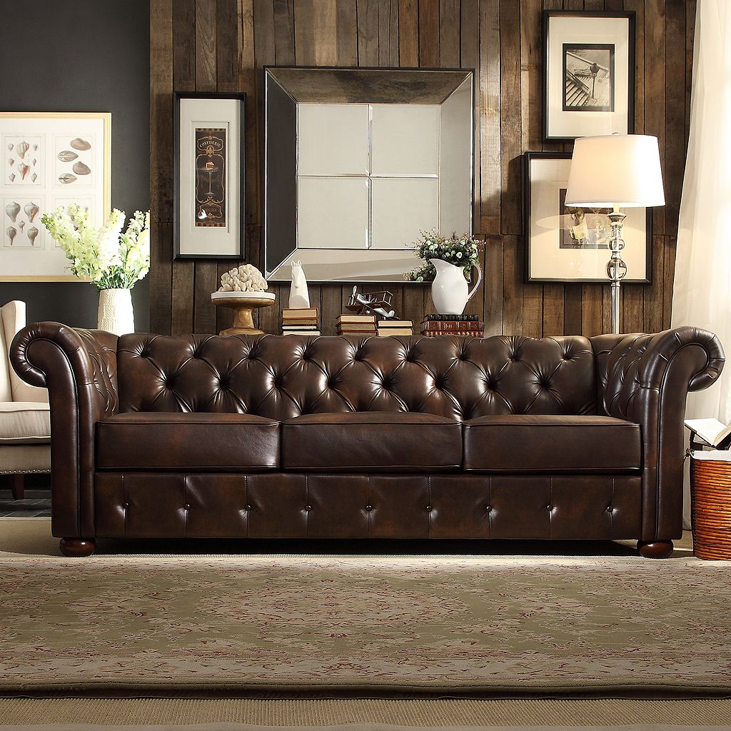 HomeVance Vanderbilt Chesterfield Button Tufted Sofa