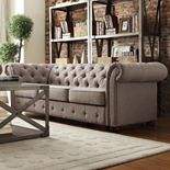 HomeVance Vanderbilt Chesterfield Button Tufted Sofa