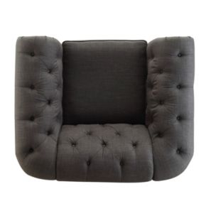 HomeVance Vanderbilt Chesterfield Button Tufted Arm Chair