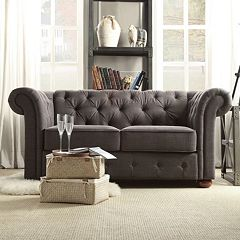 HomeVance Vanderbilt Chesterfield Button Tufted Loveseat