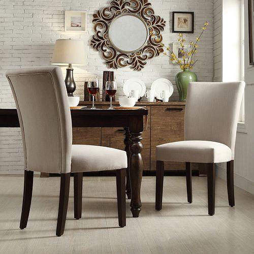 HomeVance Denargo 2-pc. Parson Side Chair Set