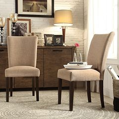 HomeVance Denargo 2 pc Parson Side Chair Set