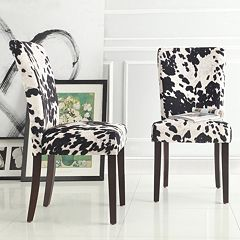 HomeVance Denargo Printed Side Chair 2 pc Set