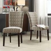 HomeVance Denargo Printed Side Chair 2 pc Set