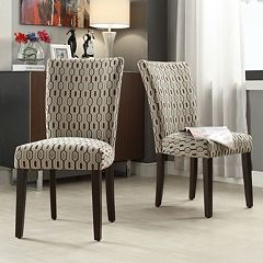 HomeVance Denargo Printed Side Chair 2-piece Set